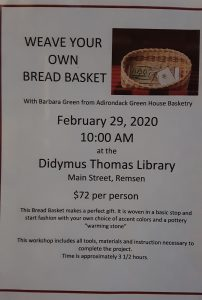 Bread Basket Weaving Class